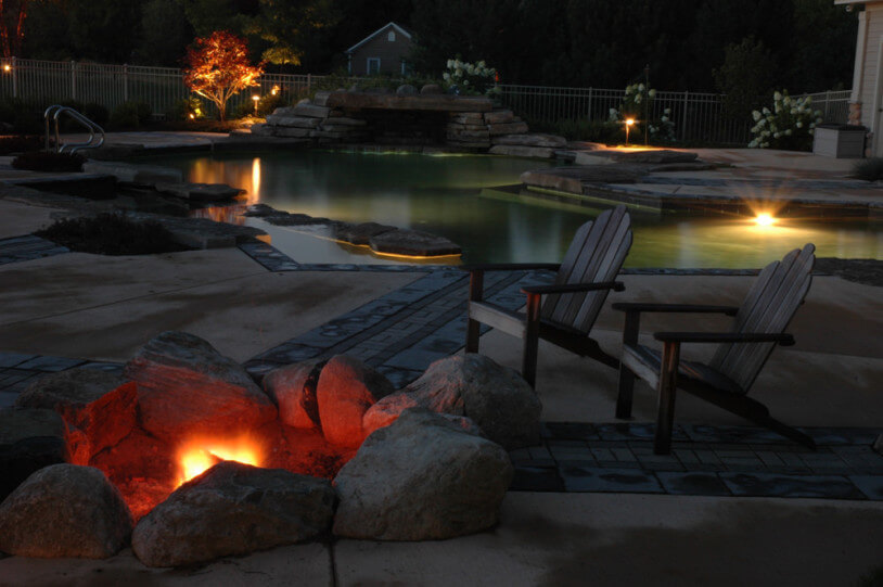 Outdoor fire pits fireplaces by foegly landscape for Prefabricated fire pits