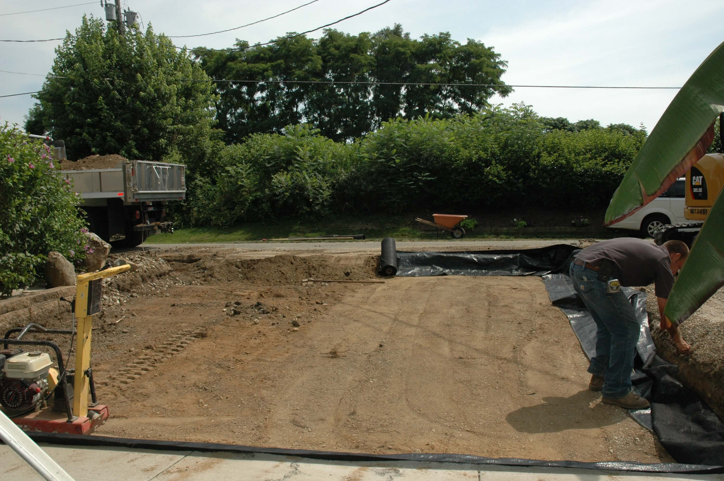 permeable driveway day two foegley landscape inc. Black Bedroom Furniture Sets. Home Design Ideas