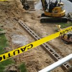 retaining wall base course