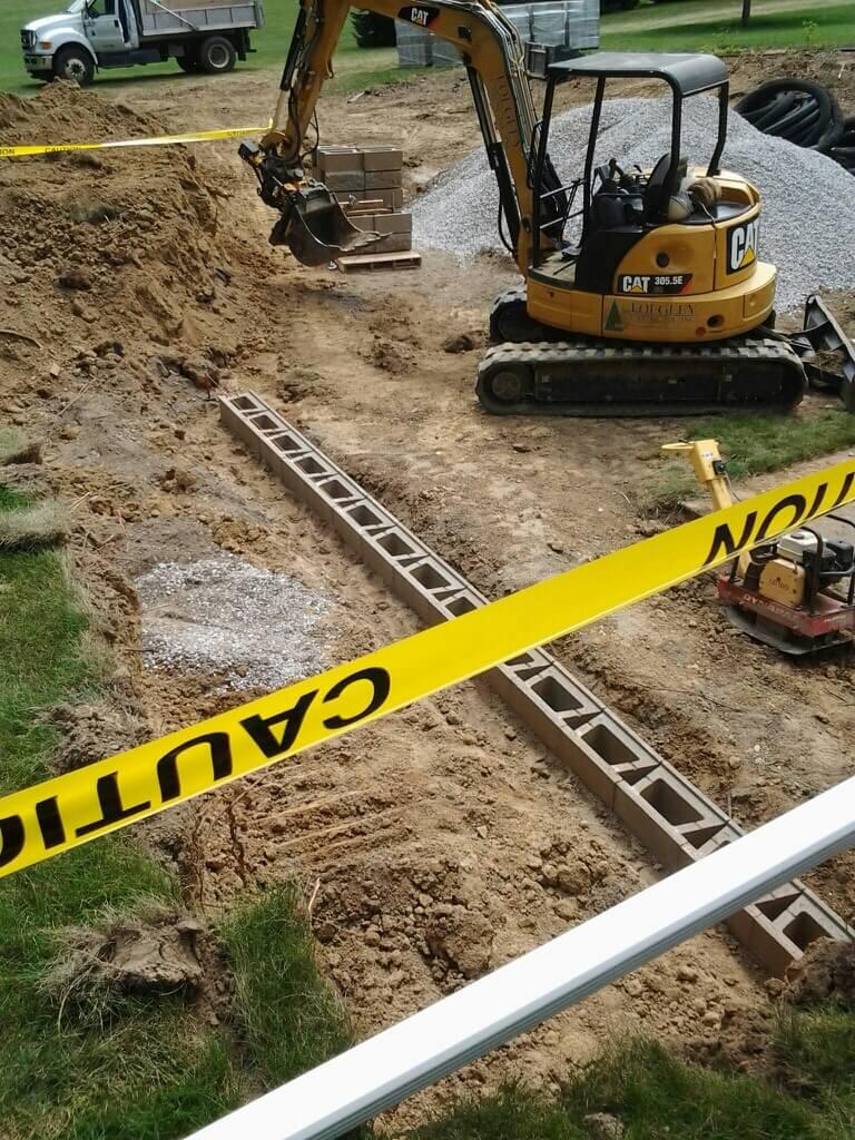 Retaining Wall Reconstruction- Day 2 | Foegley Landscape Inc