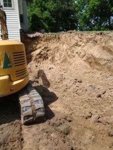 retaining wall excavation