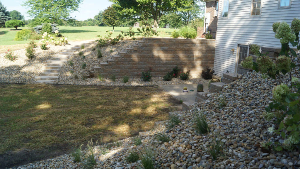 Allen block retaining wall
